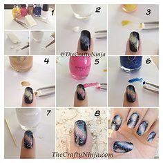 Tuto Image: Comment faire un nail art galaxie