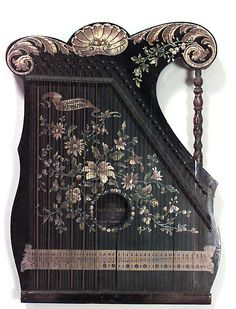 English Victorian accessories musical instrument lacquer
