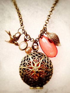 Charmed I'm Sure Essential Oil Diffusing Charm Necklacke by OverYourHeart, $18.00