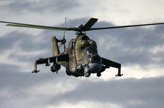L'elicottero d'attacco Mi-24.