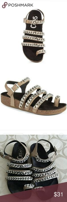 Circus by Sam Edelman Alex Chain Sandal Trendy sandals.  Very comfortable. Color; taupe. Circus by Sam Edelman Shoes Sandals
