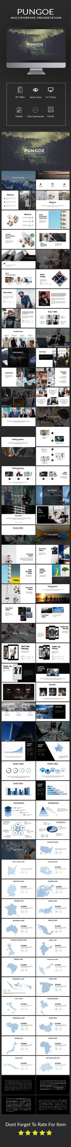 Pungoe Multipurpose Template - #PowerPoint #Templates Presentation Templates Download here: https://graphicriver.net/item/pungoe-multipurpose-template/19281615?ref=alena994