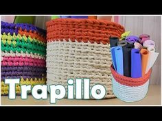 Large baskets and crochet baskets hand-woven with crochet hook - I . - Maria's My Cute Crochet Hooks, Knit Crochet, Crochet Baskets, Large Baskets, Blogger Themes, Hobbit, Crochet Projects, Hand Weaving, Projects To Try