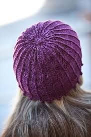 Knitted hat. Nice colour and texture.