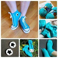 Ravelry: Project Gallery for Slipper Socks pattern by Rea Jarvenpaa Loom Knitting, Knitting Socks, Slipper Socks, Slippers, Air Max Sneakers, Sneakers Nike, Crochet Shoes, Yarn Crafts, Ravelry