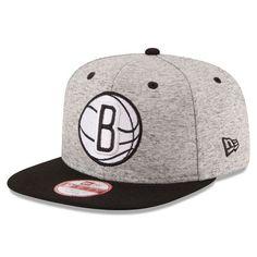 e0f825bf8d4 Men s Brooklyn Nets New Era Gray Black Current Logo Team Rogue 9FIFTY  Snapback Adjustable Hat