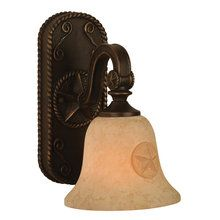 """View the Craftmade 15005 Rustic %2F Country Single Light Down Lighting 7.25"""" Length Bathroom Fixture from the Chaparral Collection at LightingDirect.com."""