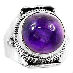 Amethyst 925 Sterling Silver Ring Jewelry s.8.5 AMCR1223 - JJDesignerJewelry