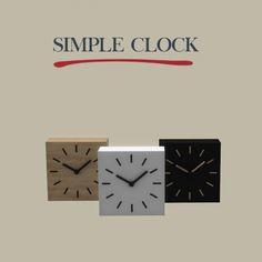 Simple Clock at Leo Sims • Sims 4 Updates
