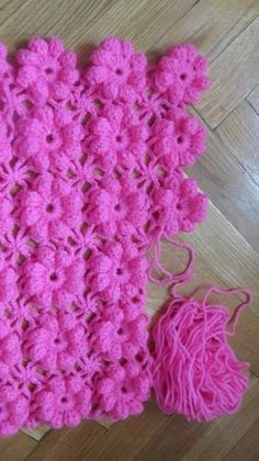 ergahandmade: Crochet puff flower Sweater + Diagrams + Free Pattern Step By Step Baby Afghan Crochet, Granny Square Crochet Pattern, Crochet Stitches Patterns, Crochet Designs, Crochet Puff Flower, Crochet Flowers, Confection Au Crochet, Diy Crafts Crochet, Crochet Hook Set