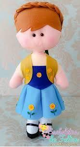 Resultado de imagen para frozen em feltro Frozen Felt, Anna, Hello Kitty, Fictional Characters, Feltro, Baby Dolls, Craft, Fantasy Characters