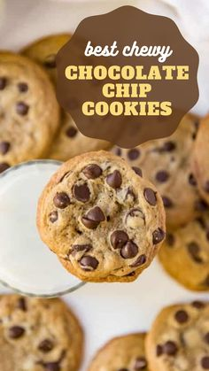 Soft Cookie Recipe, Best Chocolate Chip Cookies Recipe, Yummy Cookies, Fluffy Chocolate Chip Cookies, Gourmet Cookies, Chocolate Chips, Fun Baking Recipes, Easy Cookie Recipes, Easy Homemade Cookies