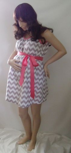 Gray Chevron Maternity Hospital Gown! I need this maybe!