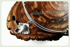 Silver Stingray Bracelet Stingray Bangle by CuteStuffJewelry