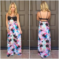 Vitamin A Palm Tree Vagabond Maxi Dress