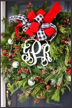 Bows are like lipstick on a wreath… they make them look bright and prettier! I had many request to share how I make what I call… THE CHRISTMAS BOW It's easy and impressive… I've probably made a thousand… here's how… This prim and proper bow finds it's way onto wreaths and Christmas presents around StoneGable. …