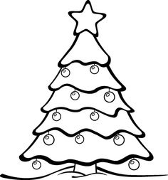 Printable Large Christmas Tree Pattern Use The For Crafts