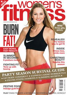 this magazine cover for women's fitness could make them insecure just by looking at the women's body. based on the captions, it tells women to burn their fat to look better and that they need to have a fit body