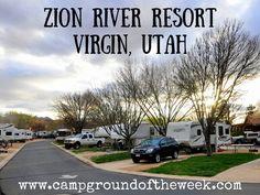 Campground Zion River Resort in Virgin, Utah - RV Family Travel Atlas Camping Date, Utah Camping, Outdoor Camping, Camping Outdoors, Camping Ideas, Camping Hacks, Rv Travel, Adventure Travel, Family Travel