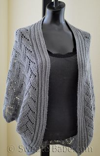 """Calida Luxe Cocoon Cardigan by SweaterBabe Calida is a girl's name of Greek and Spanish origin. Its meaning, """"most beautiful; heated, with warmth,"""" perfectly matches my new lace cocoon cardigan. This stylish open cardigan is the epitome of elegance in. Shrug Knitting Pattern, Knit Shrug, Cardigan Pattern, Sweater Knitting Patterns, Lace Knitting, Lace Cardigan, Shrug Sweater, Open Cardigan, Poncho With Sleeves"""