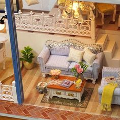 Miniature Wooden Doll House With DIY Furniture Fidget Gift Seattle – Ezbuypay Dollhouse Kits, Wooden Dollhouse, Wooden Dolls, Dollhouse Miniatures, Miniature Furniture, Diy Furniture, Birthday Gifts For Kids, Wooden Diy, Creative Gifts