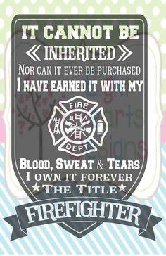 Firefighter Plege by EightHeartDesigns on Etsy