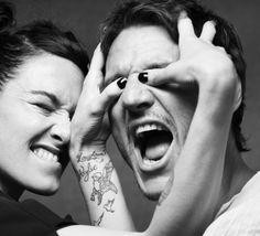 Lena Headey [Cersei Lannister] showing Pedro Pascal [Prince Oberyn] The Mountain's favorite move