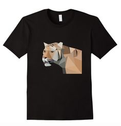 Super fun abstract tiger tee! Available for sale on Amazon!: https://www.amazon.com/dp/B01BCRMG2E Available in Women's, Men's, & Youth Sizes!