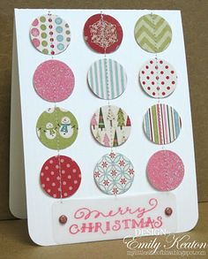 My Little Slice of Bliss Good way to use up scraps of Christmas paper.