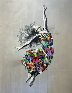 MARTIN WHATSON - DANCER - MINISTRY OF WALLS http://www.widewalls.ch/artwork/martin-whatson/dancer/ #painting