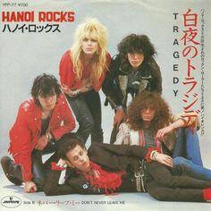 """Hanoi Rocks 1981 """"Tragedy/Don't Never Laeve Me"""" 7"""" single Japan"""