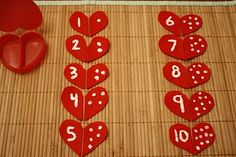 Made this for a math center and it worked well. I only placed the hearts for numbers 1-5 out in the beginning (I teach older 3's & young 4's) but if a child did well with the first set, I encouraged them to try the higher set of numbers and we worked on it together if needed. Fun!