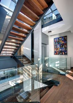 Glass, Wood, and Steel. Perfectly modern.