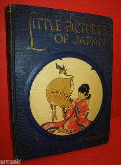 Little Pictures of Japan 1925 Children's Book  - Japanese Poetry - Illustrated by Katharine Sturges - SOLD visit RedRocketRetro.com