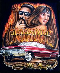 firme Lowrider Tattoo, Arte Lowrider, Angel Devil Tattoo, Angel And Devil, Chicano Love, Chicano Art, Cholo Art, Cholo Style, Latino Art