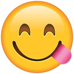 Say that you're hungry without saying a word with this ravenous emoji who is sticking out his pink tongue.