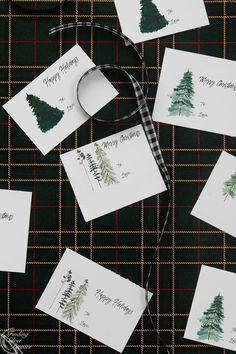Pretty Watercolor Free Printable Gift Tags | Finding Silver Pennies #christmasinspiration #gifttags #freeprintables #watercolor