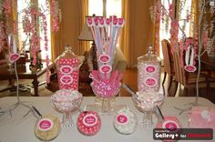 a little candy buffet for a sprinkle (she already has 3 boys) instead of a shower.  Jorden Collins Candy Buffets 949-231-2098 SweetLadera@cox.net