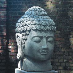 Campania International, Inc Temple Buddha Head Statue Color: Graystone