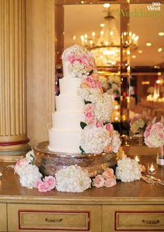 Both the groom's and bride's cakes were designed by the reception site, Fort Worth Club, 360 Weddings, Spring 2014 #weddings #weddingcakes #weddingvenues #texasweddings #fortworthclub #fortworth
