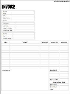 Best My Favorite Internet Word Templates Images On Pinterest - Free invoice templates for word goodwill online store