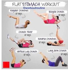 Fitness Try this for a flat stomach workout. #workout #flat-tummy #fitness-tips