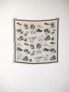 Fungi Print Silk Scarf by Leah Goren
