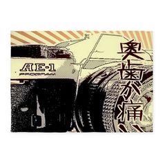 Japanese Cartoon Vintage Camera 5x7Area Rug