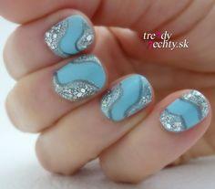 Nail art ideas, nail art ideas for short nails nail designs, blue polish, glitter, Flormar nail polish nail polish colors