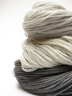 Sparkly lace yarn Hand dyed laceweight merino silk by SixSkeins ... love the neutrals