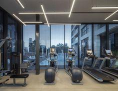 W Prime Lobby - Picture gallery Gym Interior, Lobby Interior, Interior Design, Home Gym Decor, At Home Gym, Yoga Room Design, Gym Lighting, Hotel Gym, Home Gym Design
