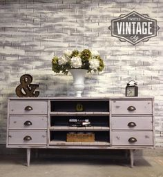 Mid-century Dresser refinished and turned into TV Console by Twisted Vintage AZ