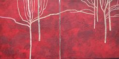 Open Space diptych by Alison Veazey from the Trees open art exhibition at Harbour House, spring 2016