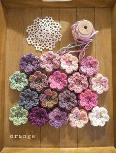Fab Crochet flowers - two like layers?